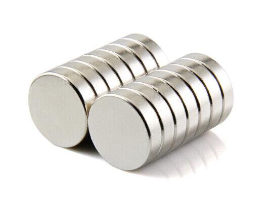 Neodym Magnete super stark Scheiben Würfel N35 N45 N50 doppelt vernickelt Scheibe - Ø 14 X 2mm