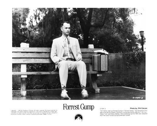 FORREST GUMP iconic still TOM HANKS on bench -- (n882)