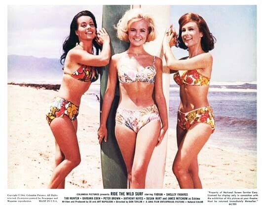 RIDE THE WILD SURF great color 8x10 still of female cast -- b489
