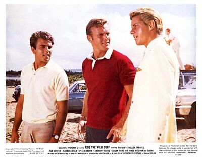 RIDE THE WILD SURF great 8x10 color still FABIAN & TAB HUNTER -- b488