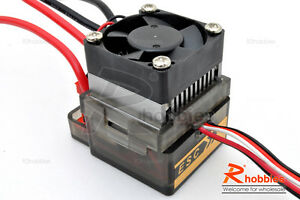 1/10 RC Car 300A HV Brushed Motor ESC Electronic Speed Controller 2A BEC + Fan