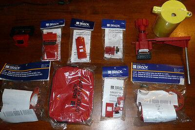 New Brady - Lot Of 10 Lockout Items Equipment