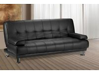 BRAND NEW Venice 3 Seater Luxury Leather Sofa Bed, Quality and Comfort Sofabed Next Day Delivery