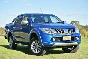 2015 Mitsubishi Triton MQ MY16 GLS Double Cab Blue 5 Speed Sports Automatic Utility Cheltenham Charles Sturt Area Preview