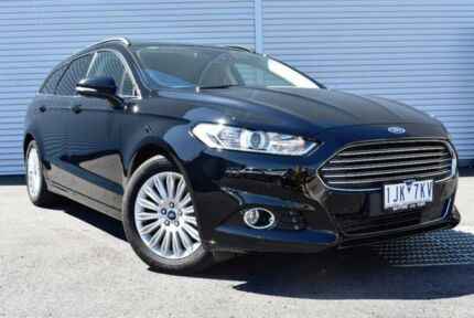 2017 Ford Mondeo MD 2017.00MY Trend PwrShift Black 6 Speed Sports Automatic Dual Clutch Wagon