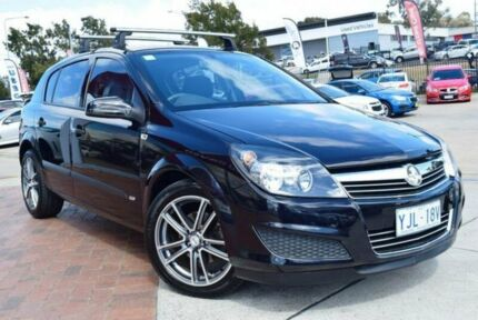 2007 Holden Astra AH MY07 CD Black Sapphire 4 Speed Automatic Hatchback