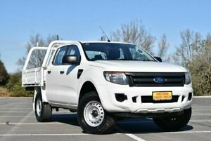 2012 Ford Ranger PX XL Double Cab 4x2 Hi-Rider White 6 Speed Manual Utility Cheltenham Charles Sturt Area Preview