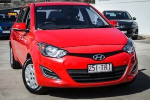 2013 Hyundai i20 Electric Red 6 Speed Manual Hatchback Ipswich Ipswich City Preview