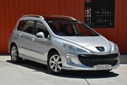2009 Peugeot 308 T7 XS Touring Silver 6 Speed Sports Automatic Wagon Molendinar Gold Coast City Preview