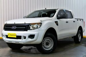 2012 Ford Ranger PX XL Double Cab 4x2 Hi-Rider White 6 Speed Sports Automatic Cab Chassis Hendra Brisbane North East Preview