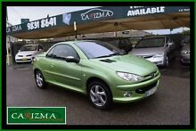 2004 Peugeot 206 T1 MY03 CC Green 4 Speed Automatic Cabriolet Toongabbie Parramatta Area Preview