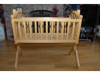Mamas and papas wooden crib, great condition
