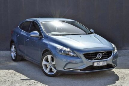 2014 Volvo V40 M Series MY15 D4 Adap Geartronic Luxury Blue 8 Speed Sports Automatic Hatchback