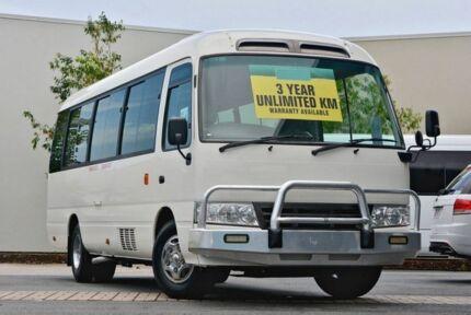 2011 Toyota Coaster XZB50R Deluxe White Bus