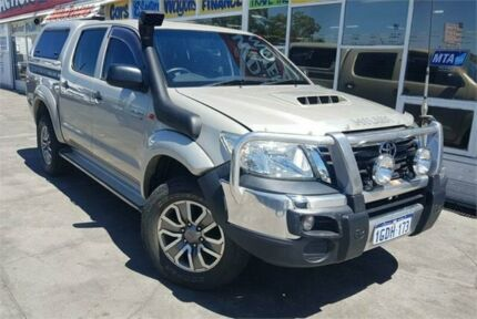 2012 Toyota Hilux KUN26R MY12 SR (4x4) Gold 4 Speed Automatic Dual Cab Pick-up Cannington Canning Area Preview
