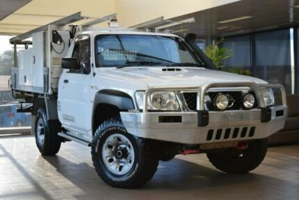 2013 Nissan Patrol MY11 Upgrade DX (4x4) White 5 Speed Manual Leaf Cab Chassis Belconnen Belconnen Area Preview