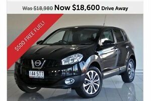 2012 Nissan Dualis J10W Series 3 MY12 Ti Hatch X-tronic 2WD Black 6 Speed Constant Variable Southport Gold Coast City Preview