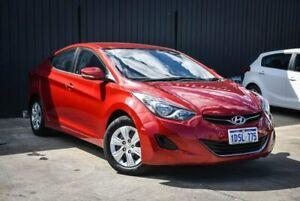 2011 Hyundai Elantra MD Active Red 6 Speed Manual Sedan Midvale Mundaring Area Preview