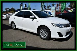 2012 Toyota Camry AVV50R Hybrid H White Continuous Variable Sedan Seven Hills Blacktown Area Preview