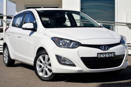2015 Hyundai i20 PB MY15 Elite White 4 Speed Automatic Hatchback