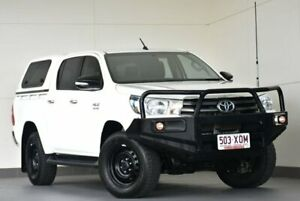 2017 Toyota Hilux GUN126R SR Double Cab White 6 Speed Manual Utility