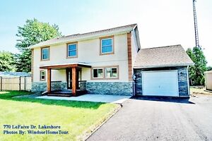 WATERFRONT LAKESHORE HOME :FULLY RENOVATED 4 BEDRM 2.5 BATH