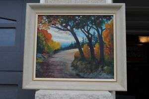Vintage Landscape Oil (Fall Scene) Painting