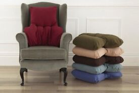 Super snug back support cushions (brown) - 2 for sale - VERY comfortable!