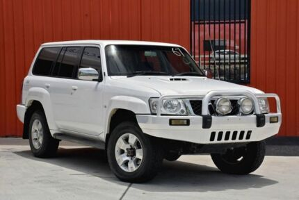 2007 Nissan Patrol GU IV MY06 ST White 5 Speed Manual Wagon Molendinar Gold Coast City Preview