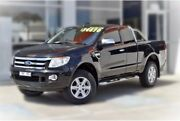 2013 Ford Ranger PX XLT Super Cab 4x2 Hi-Rider Black 6 Speed Sports Automatic Utility Berwick Casey Area Preview