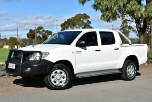 2009 Toyota Hilux KUN26R MY09 SR White 5 Speed Manual Cab Chassis Brighton Holdfast Bay Preview