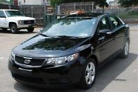 2010 KIA FORTE EX LOADED BLACK ON BLACK  153000 KM