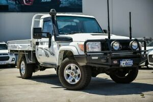 2008 Toyota Landcruiser VDJ79R GX White 5 Speed Manual Cab Chassis