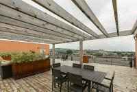 Grand 3 1/2 style loft meublé avec terrasse (Métro Parc)
