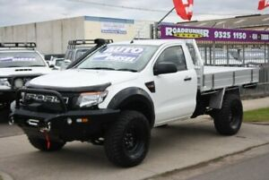 2013 Ford Ranger PX XL White 6 Speed Sports Automatic Cab Chassis Altona North Hobsons Bay Area Preview