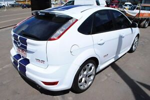 2010 Ford Focus LV Mk II XR5 Turbo White W/ Blue Stripe 6 Speed Manual Hatchback Hyde Park Townsville City Preview