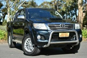 2011 Toyota Hilux KUN26R MY12 SR5 Double Cab Black 4 Speed Automatic Utility Melrose Park Mitcham Area Preview