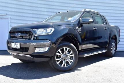 2017 Ford Ranger PX MkII MY18 Wildtrak Double Cab Black 6 Speed Sports Automatic Utility