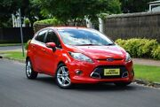 2011 Ford Fiesta WS Zetec Red 4 Speed Automatic Hatchback Medindie Walkerville Area Preview