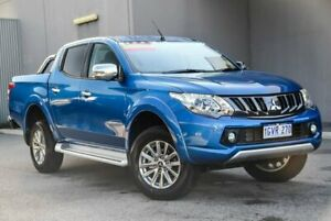 2018 Mitsubishi Triton MQ MY18 GLS Double Cab Impulse Blue 5 Speed Sports Automatic Utility Osborne Park Stirling Area Preview