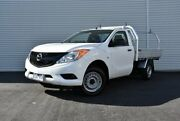 2012 Mazda BT-50 UP0YF1 XT 4x2 Hi-Rider White 6 Speed Manual Cab Chassis Epping Whittlesea Area Preview