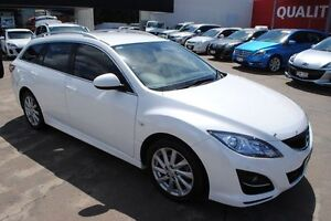 2011 Mazda 6 GH1052 MY12 Touring White 5 Speed Sports Automatic Wagon Rosslea Townsville City Preview