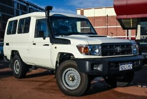 2015 Toyota Landcruiser VDJ78R Workmate Troopcarrier White 5 Speed Manual Wagon Fremantle Fremantle Area Preview