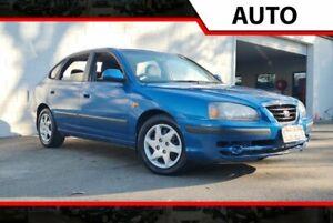 2005 Hyundai Elantra XD MY05 FX Blue 4 Speed Automatic Hatchback Ashmore Gold Coast City Preview