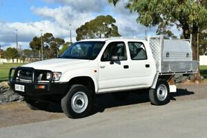 2002 Toyota Hilux KZN165R MY02 White 5 Speed Manual Cab Chassis Brighton Holdfast Bay Preview