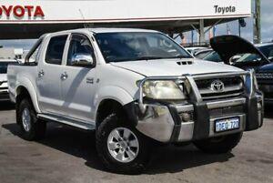 2009 Toyota Hilux KUN26R 09 Upgrade SR5 (4x4) Glacier White 4 Speed Automatic Dual Cab Pick-up