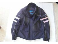 Ladies Frank Thomas Aqua 3 in 1 motorcycle jacket