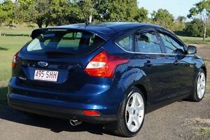 2012 Ford Focus LW MKII Titanium PwrShift Ink Blue 6 Speed Sports Automatic Dual Clutch Hatchback Bundaberg West Bundaberg City Preview
