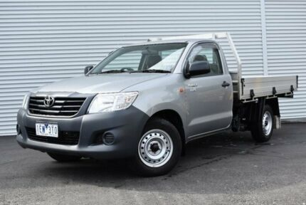 2015 Toyota Hilux TGN16R MY14 Workmate Silver 4 Speed Automatic Cab Chassis