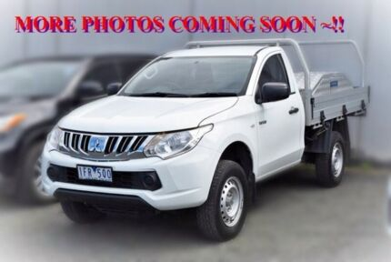 2015 Mitsubishi Triton MQ MY16 GLX White 5 Speed Manual Cab Chassis